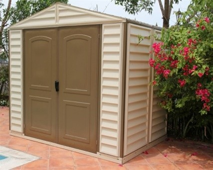 duramax 4x8 sidemate vinyl shed