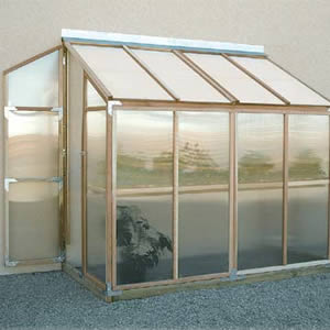Sunshine Leanto Wood Frame Greenhouse Kits - Free Shipping
